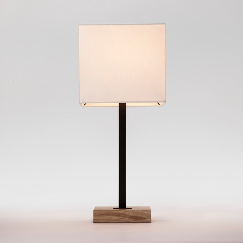 Wood Square Base Table Lamp Black Lamp Only Project 62 Target