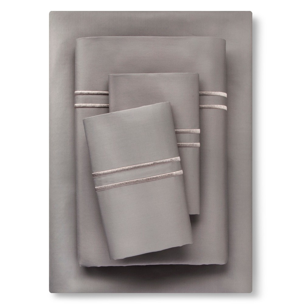 Supima Hotel Sheet Set (King) Skyline Gray Tonal - Fieldcrest