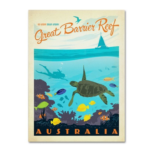 'Great Barrier Reef' by Anderson Design Group Ready to Hang Canvas Wall Art - image 1 of 3