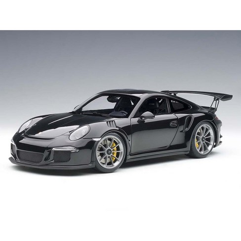 Porsche 911 (991) GT3 RS Gloss Black with Silver Wheels 1/18 Model Car by Autoart - image 1 of 4