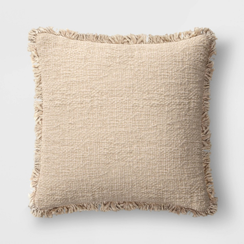 24 34 X24 34 Oversized Square Throw Pillow With Fringe Neutral Threshold 8482