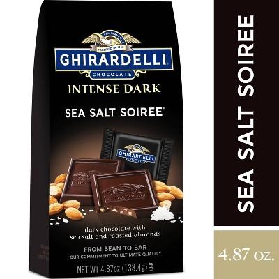 Ghirardelli Intense Dark Sea Salt Soiree Chocolate Squares - 4.87oz