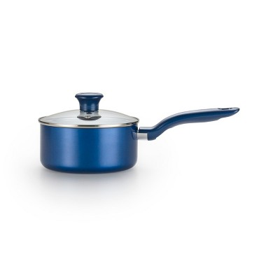 T-fal 3qt Ceramic Saucepan with Lid Blue