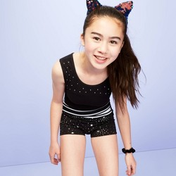 Girls' Celestial Star Shorts - More than Magic™ Black Star