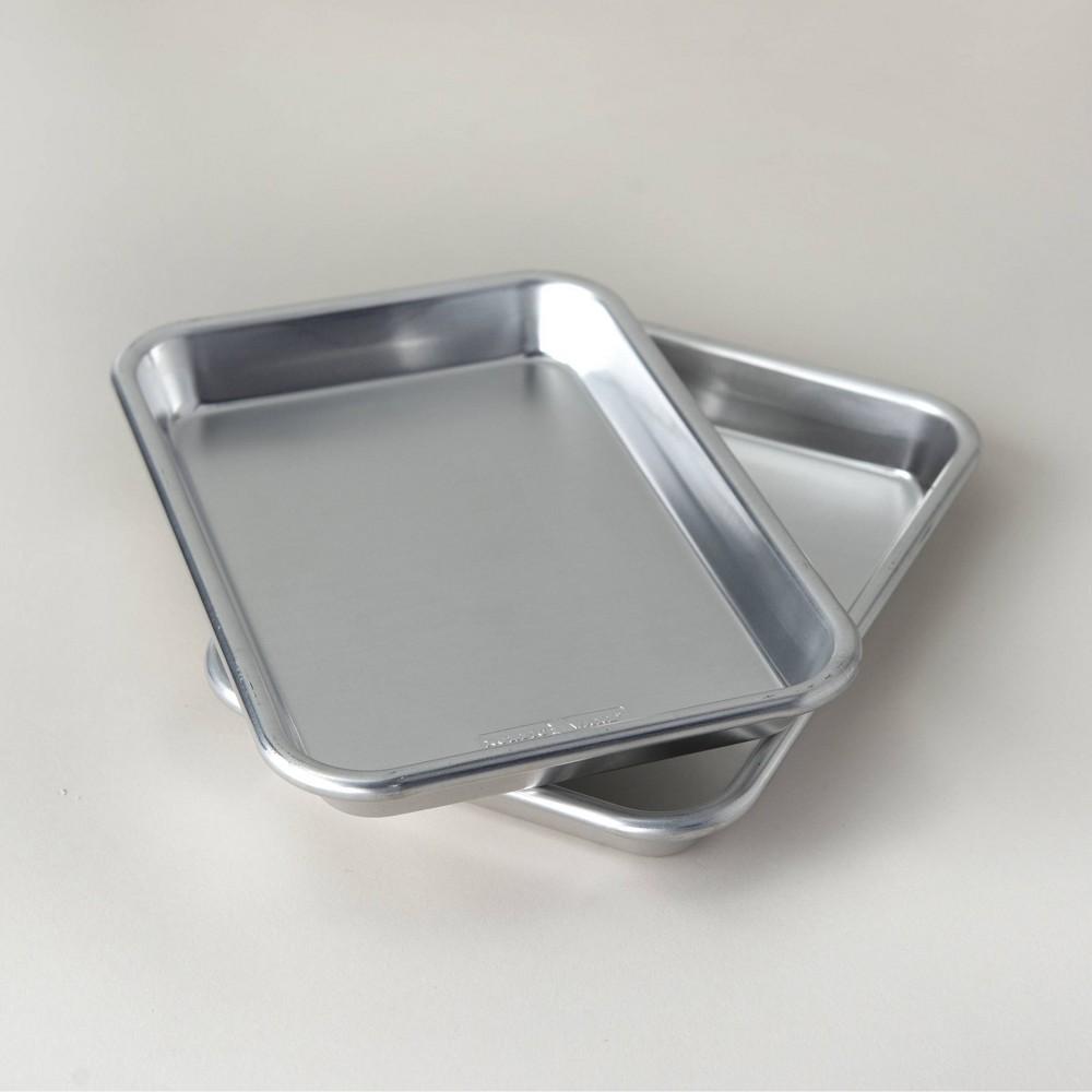 Image of Aluminum Burger Prep Grill Tray Silver - Nordicware