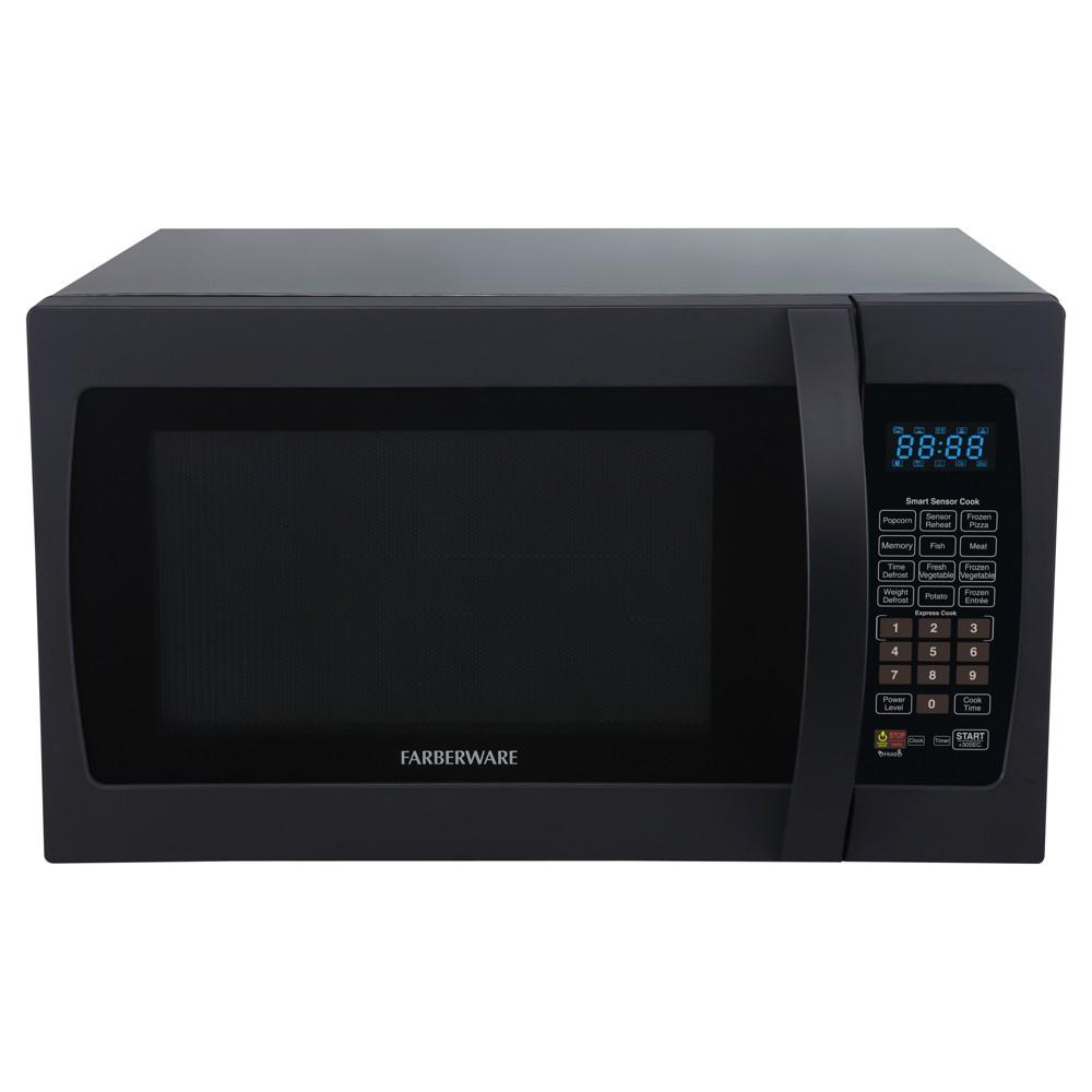Farberware 1.3 Cu. Ft. 1100 Watt Microwave Oven With Smart Sensor Cooking...