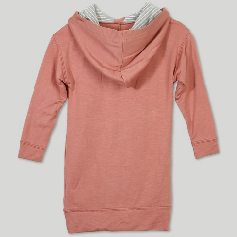 5bc3ef95639 Afton Street Toddler Girls  Hooded Long Sleeve A Line Dress - Pink   Target