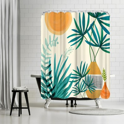 """Americanflat Moroccan Garden by Modern Tropical 71"""" x 74"""" Shower Curtain"""