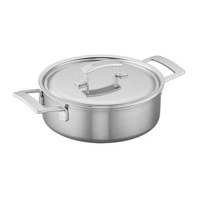 Demeyere Industry 5-Ply 4-qt Stainless Steel Deep Saute Pan