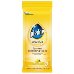 Pledge Lemon Scented Enhancing Wipes - 24ct