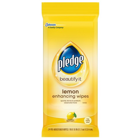 Pledge Lemon Scented Enhancing Wipes - 24ct - image 1 of 4