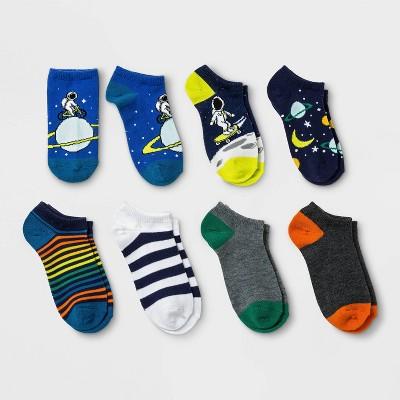 Boys' 7pk No show Space Print Socks - Cat & Jack™