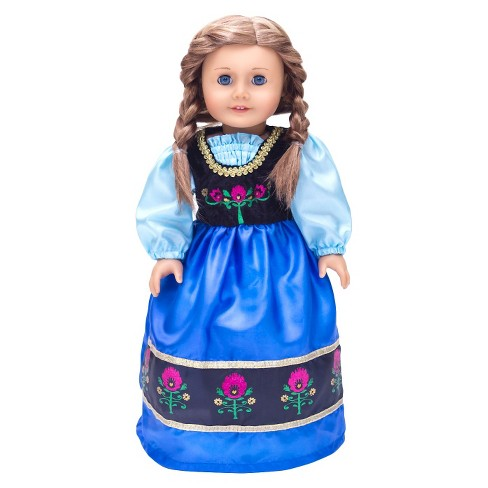 Little Adventures Doll Dress Scandinavian Princess - image 1 of 2