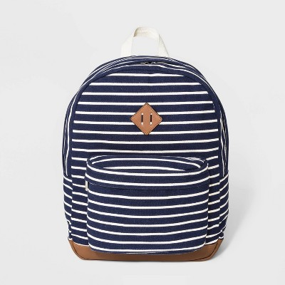 Striped Canvas Dome Backpack   Wild Fable Blue by Wild Fable Blue