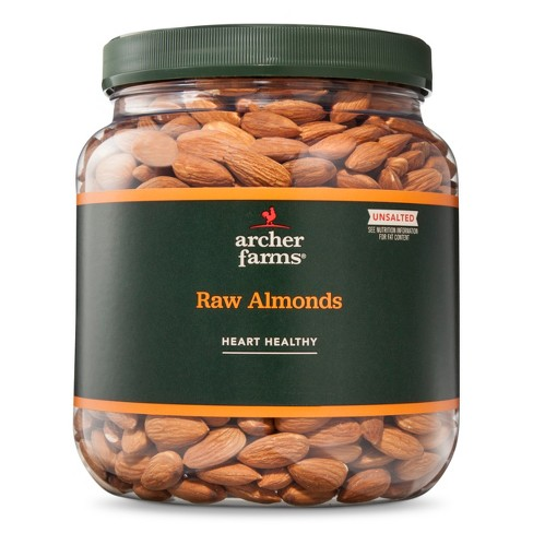Unsalted Raw Almonds - 32oz - Archer Farms™ - image 1 of 2