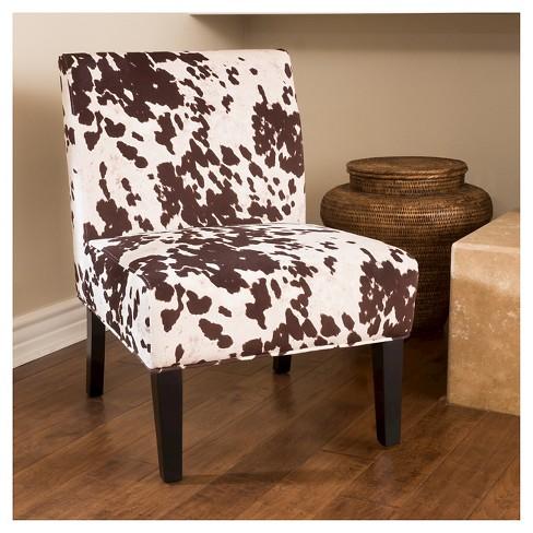 Saloon Cowhide Print Dining Chair Milk Cow Target