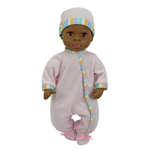 "14"" Sweet and Happy Baby - Pink with Stripes Pajamas - image 1 of 3"