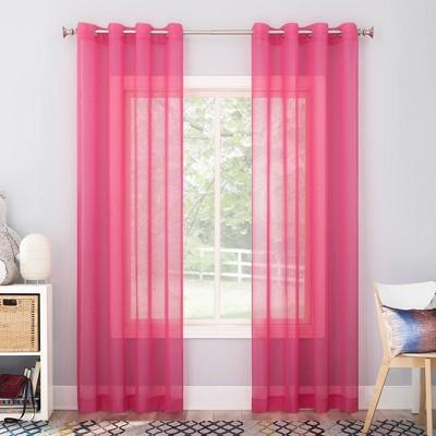 Calypso Sheer Voile Grommet Top Curtain Panel - No. 918