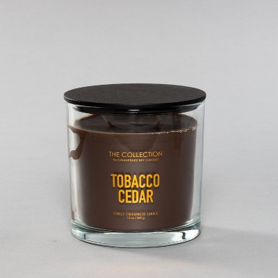 13oz Glass Jar 2-Wick Candle Tobacco Cedar - The Collection By Chesapeake Bay Candle