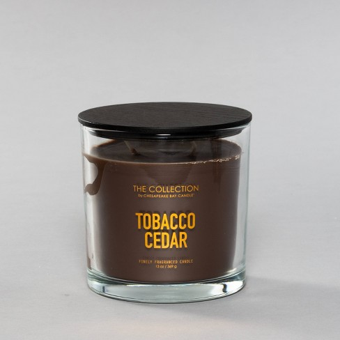 13oz Glass Jar 2-Wick Candle Tobacco Cedar - The Collection By Chesapeake Bay Candle - image 1 of 3