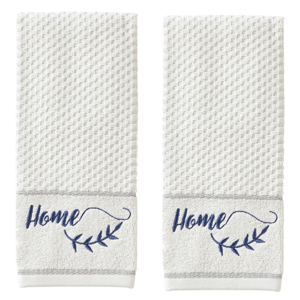 Image of 2pc Farm Home Hand Towel Set White - SKL Home