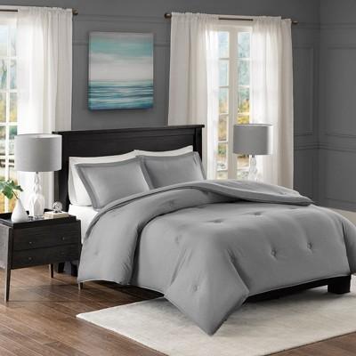 Gray Bradley Down Alternative Comforter Mini Set King/California King