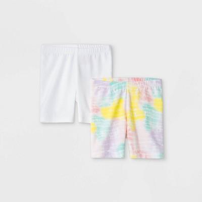 Toddler Girls' 2pk Pull-On Shorts - Cat & Jack™ White
