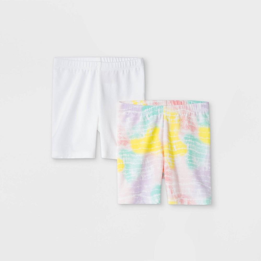 Toddler Girls 39 2pk Pull On Shorts Cat 38 Jack 8482 White 18m