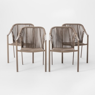 Levy 4pk Patio Dining Chair Beige - Project 62™