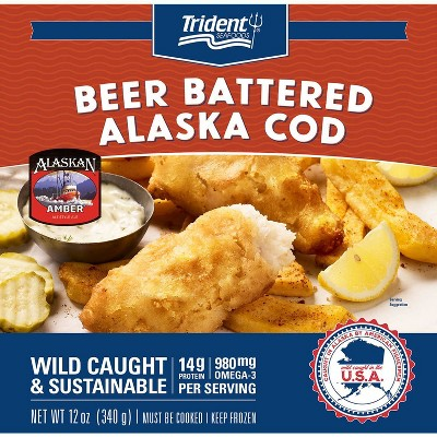 Trident Pubhouse Battered Cod - Frozen - 12oz