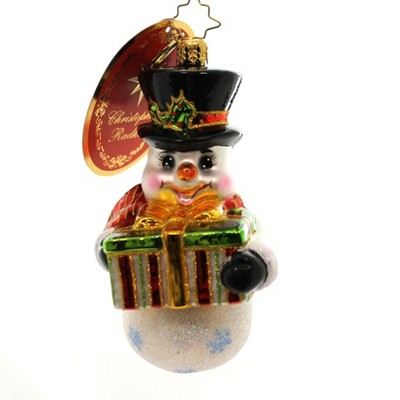 Christopher Radko A Gift For You Snowman  Christmas  -  Tree Ornaments