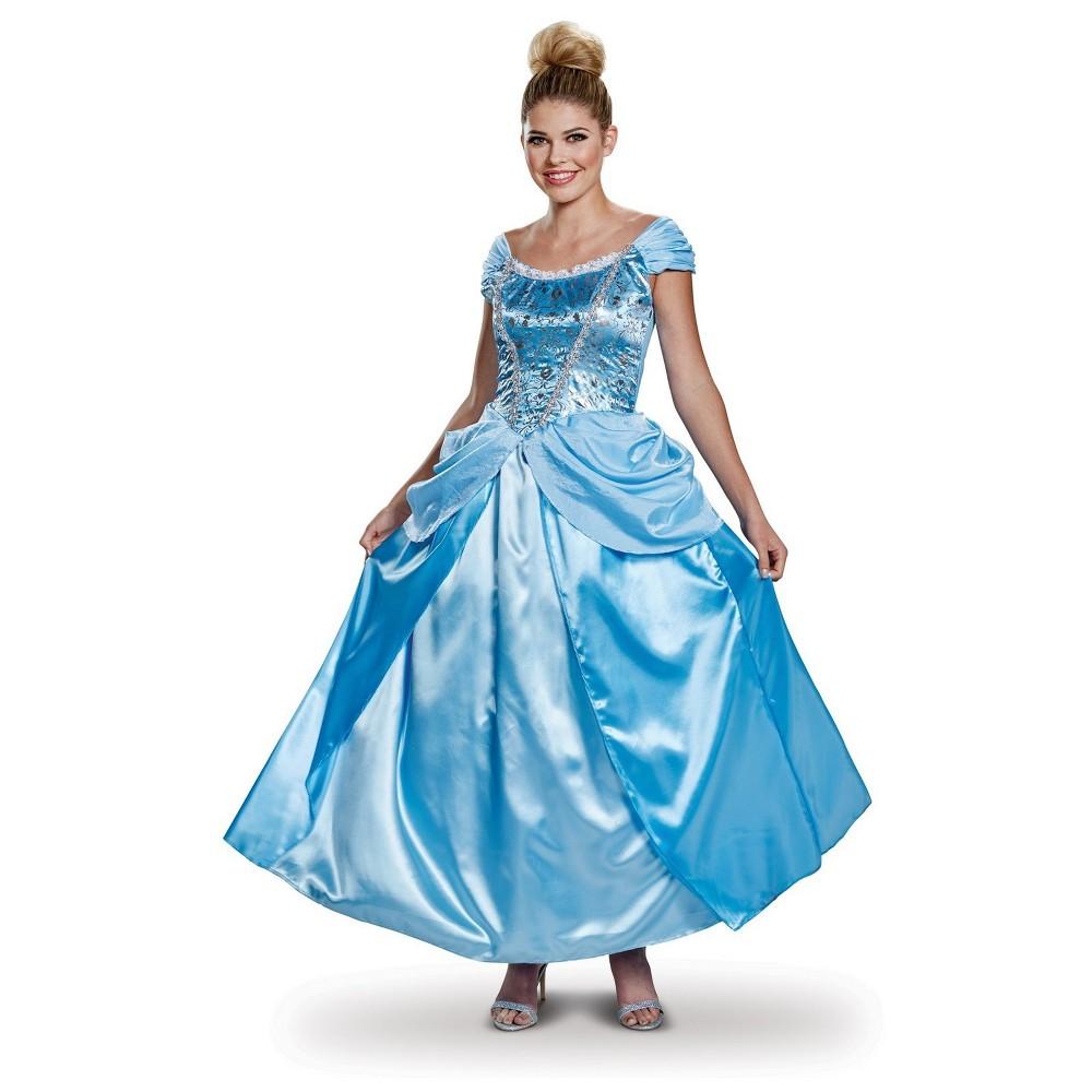 Cinderella Women's Deluxe Halloween Costume S - Disguise, Blue
