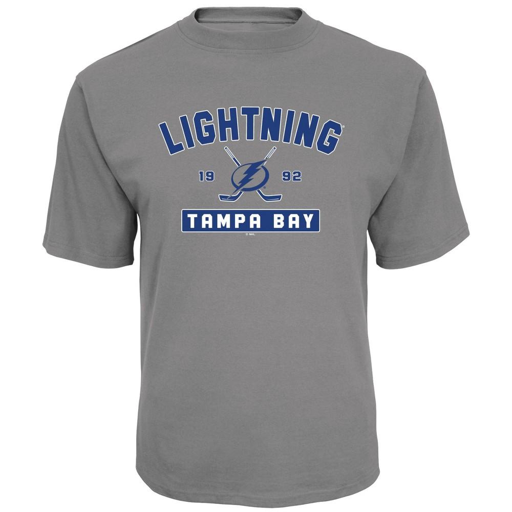 Tampa Bay Lightning Men's Center Ice Gray T-Shirt M, Multicolored