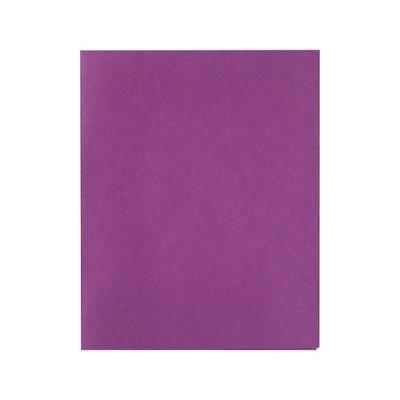 Staples School Grade 2 Pocket Folder with Fasteners Purple 25/BX 27544-CC