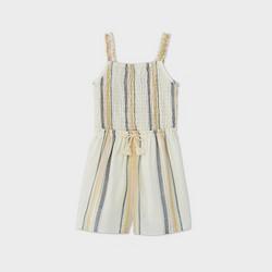 Girls' Tie-Front Striped Romper - art class™