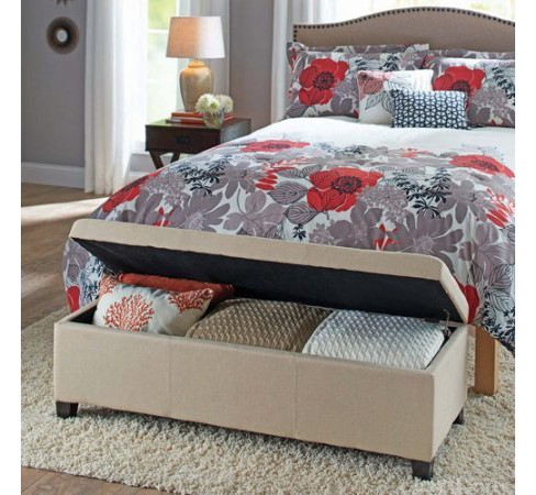 Linen Storage Ottoman Beige/Khaki - Project 101 - image 1 of 1