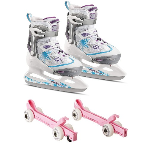 Rollerblade Bladerunner Micro Ice G Skates, Large, & Skate Guard Rollers (Pair) - image 1 of 4
