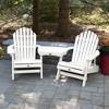 Hamilton 2pk Folding & Reclining Adirondack Chairs with 1 Adirondack Tete - A - Tete Connecting Table White - Highwood - image 2 of 3