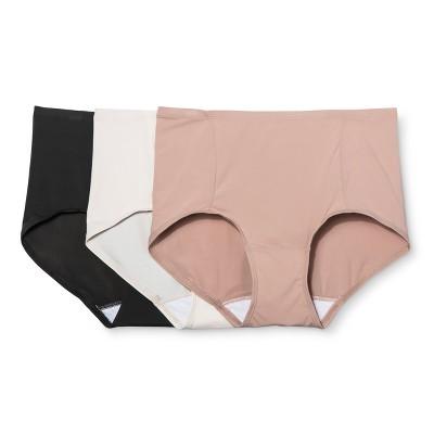 Hanes Premium Women's Smoothing Body Toner Briefs Panties 3pk