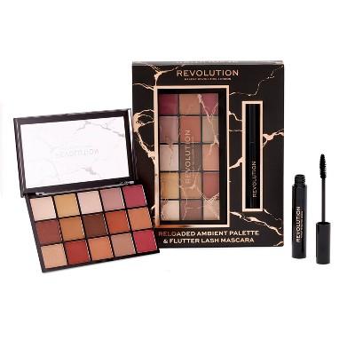Makeup Revolution Reloaded Palette + Mascara Gift Set - 0.5oz - 2pc