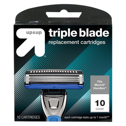Men's 3 Blade Cartridges 10ct - Up&Up™ (Fits Gillette Mach3 handles)