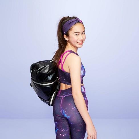 Girls' Galaxy Sports Bra - More Than Magic™ Purple - image 1 of 3