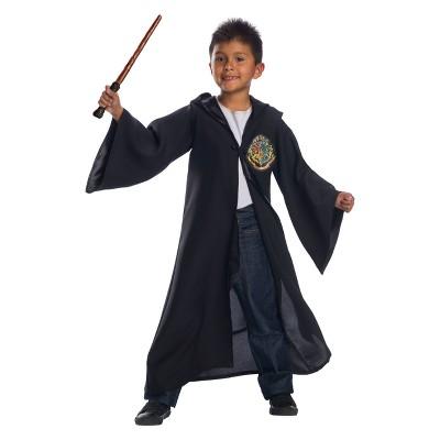 Kidsu0027 Harry Potter Hogwarts Four House Logo Robe Halloween Costume