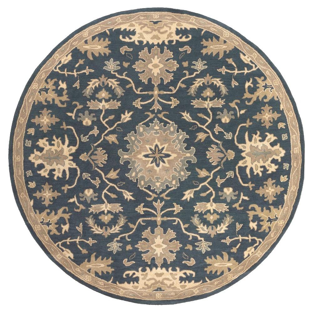 Gilgamesh Area Rug - Navy (Blue), Tan - (9'9 Round) - Surya