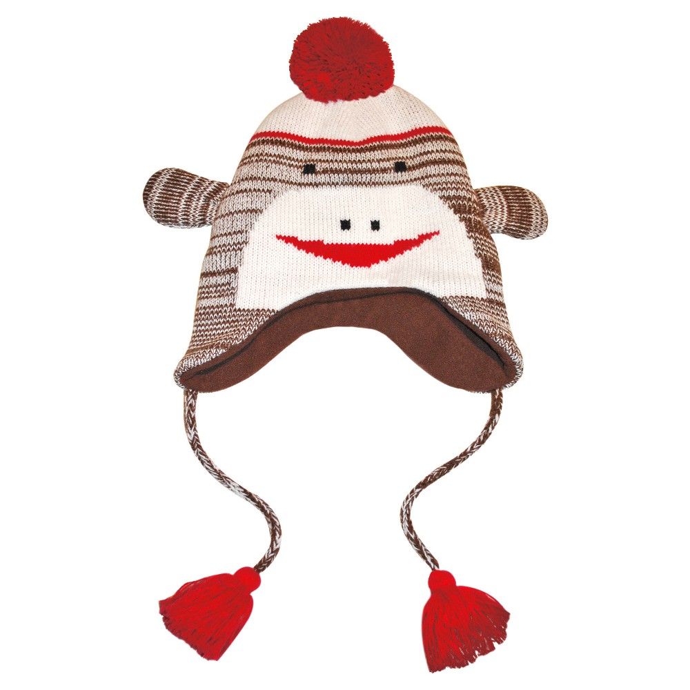 Women's Knit Monkey Hat - Brown