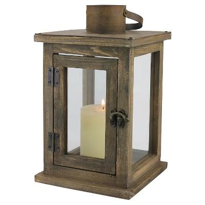 Medium Stonebriar Rustic Wooden Candle Lantern - CKK Home Decor