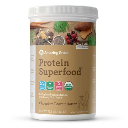 Amazing Grass Protein Superfood Powder - Chocolate Peanut Butter - 15.1oz - image 1 of 3