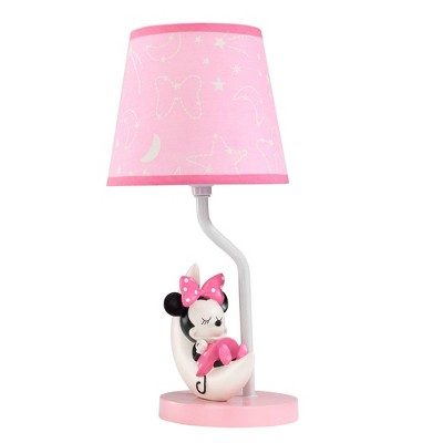 Lambs & Ivy Disney Baby Novelty Table Lamp with Shade and Bulb (Includes CFL Light Bulb) - Minnie Mouse