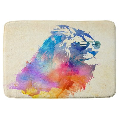 Robert Farkas Sunny Leo Cushion Bath Mat Pink - Deny Designs