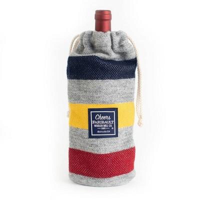 Wool Wine Bag - Faribault Woolen Mill